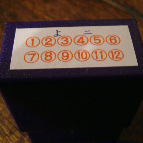 36 Sublo Number in Circle Stamps Set