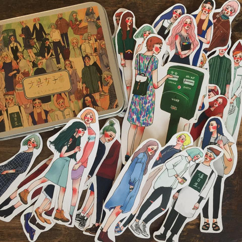 LDV Bungu Girls Stickers Set (30pcs)
