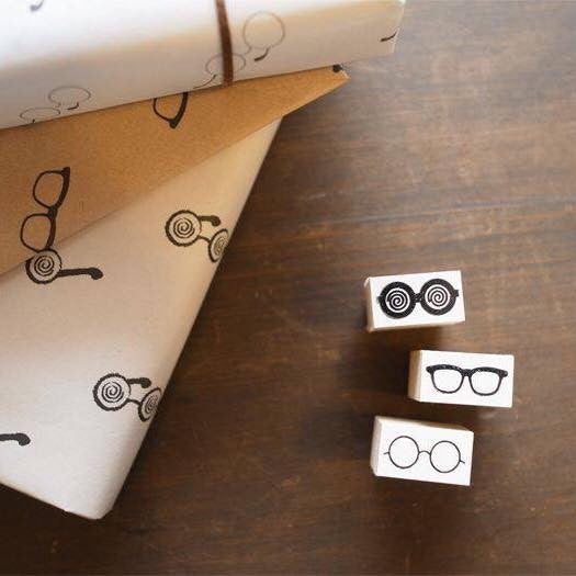 36 Sublo Glasses Rubber Stamps
