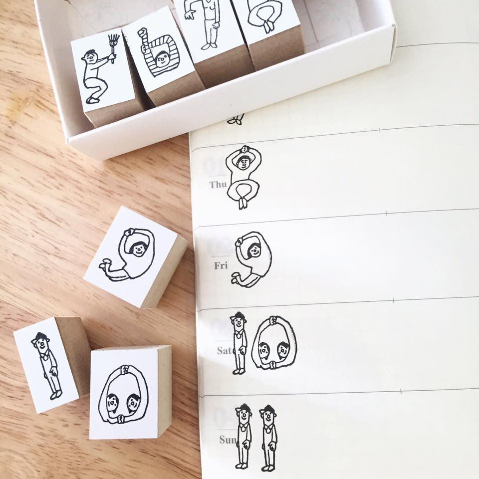 36 Sublo People Number Stamps Set