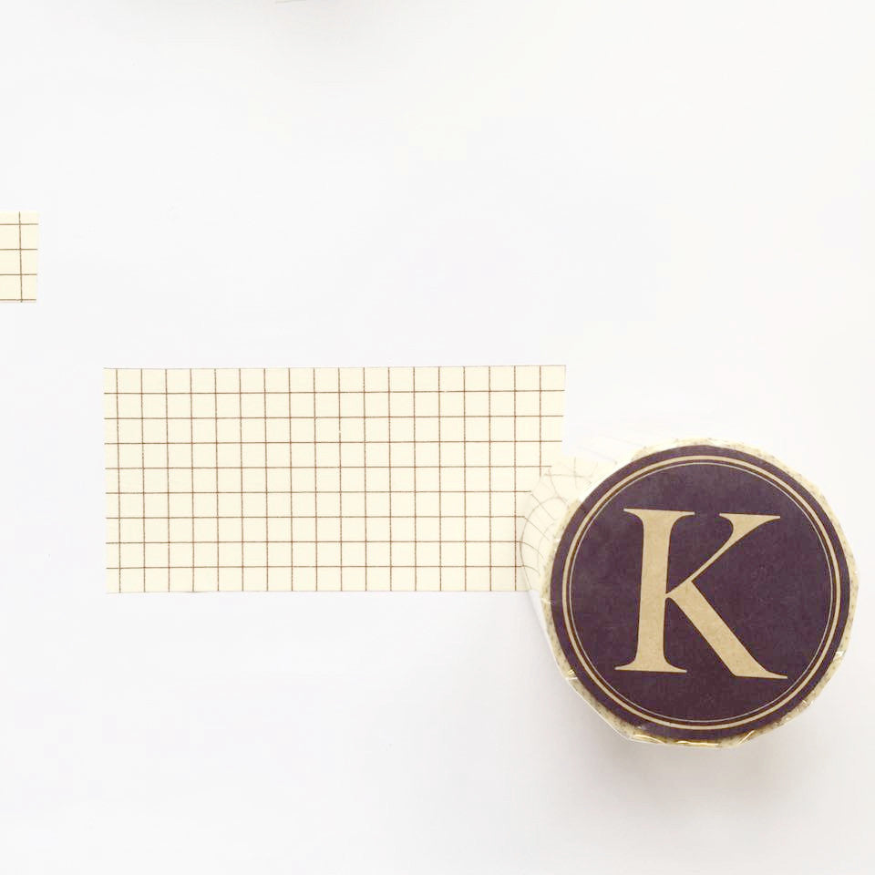 Classiky Grid Washi Tapes (45mm) - Nut Brown