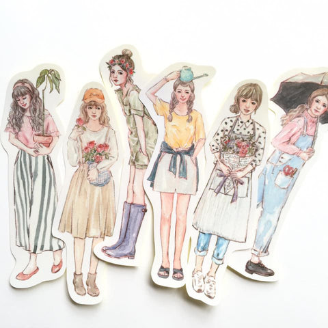 Bon Bon Stickers - Florist Girls