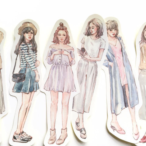 Bon Bon Stickers - Autumn Girls Project