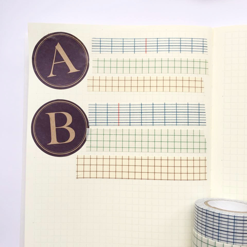 Classiky Grid Washi Tapes (12mm) - Set of 3