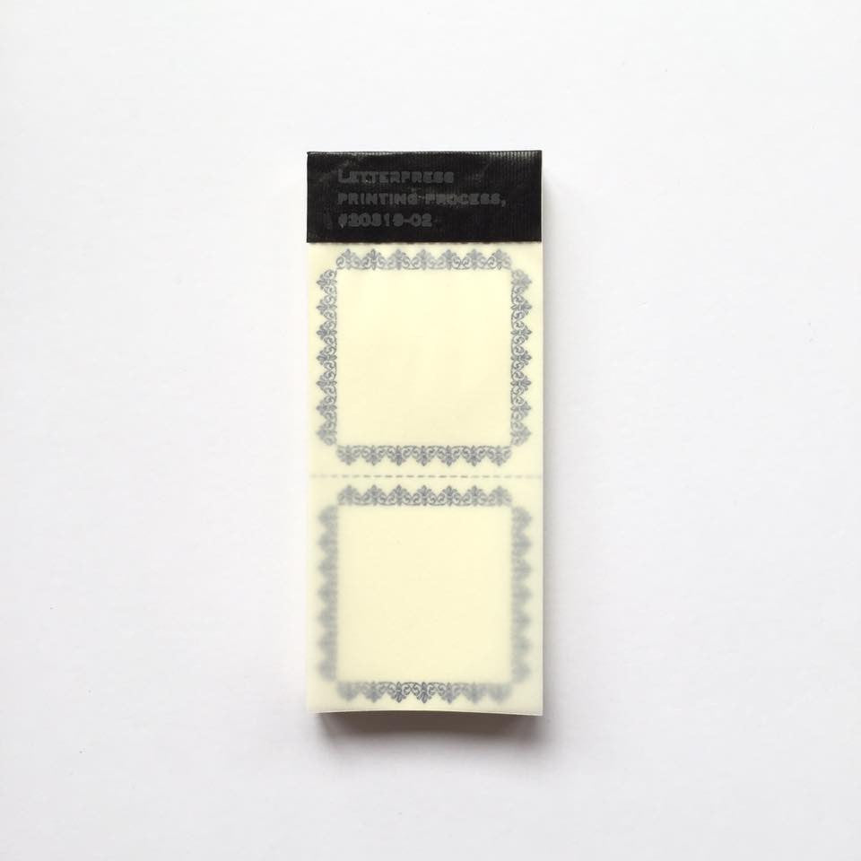 Classiky Letterpress Label Book (38x38mm)