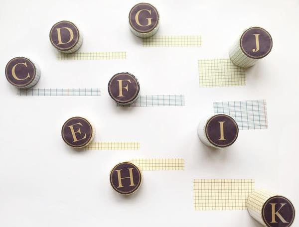Classiky Grid Washi Tapes (45mm) - Indigo