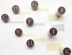 Classiky Grid Washi Tapes (18mm) - Nuk Brown