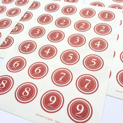 Classiky Number Seals