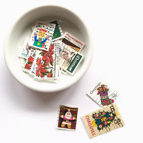 Vintage Christmas Theme Stamps Set (10pcs/U.S.)
