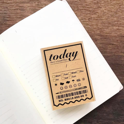 Today Date Rubber Stamp