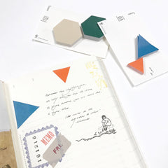 Classiky x Drop Around Geometric Sticky Notes