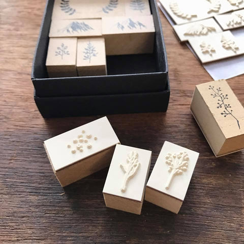 [Discontinued] LCN Collage Rubber Stamp Set