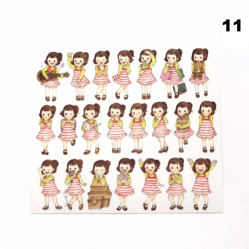 Lallayena Cute Girls Stickers