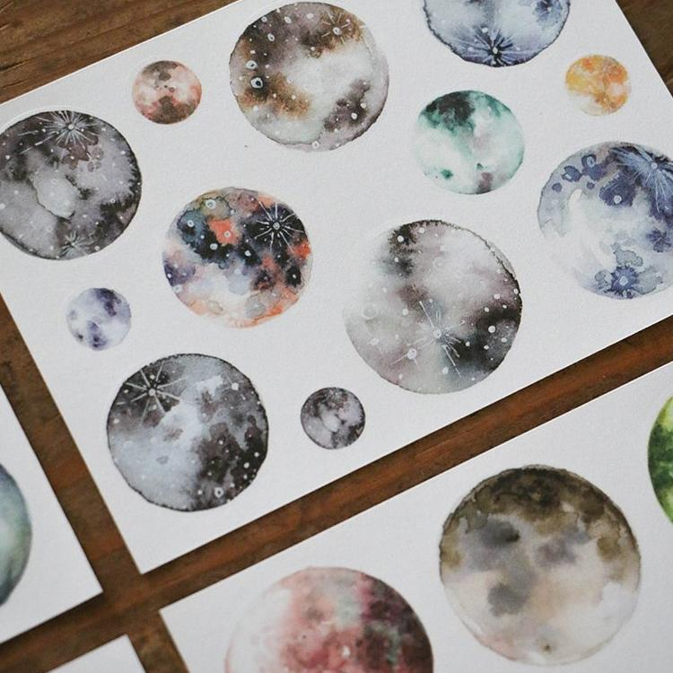 LCN Planet & Moon Washi Stickers