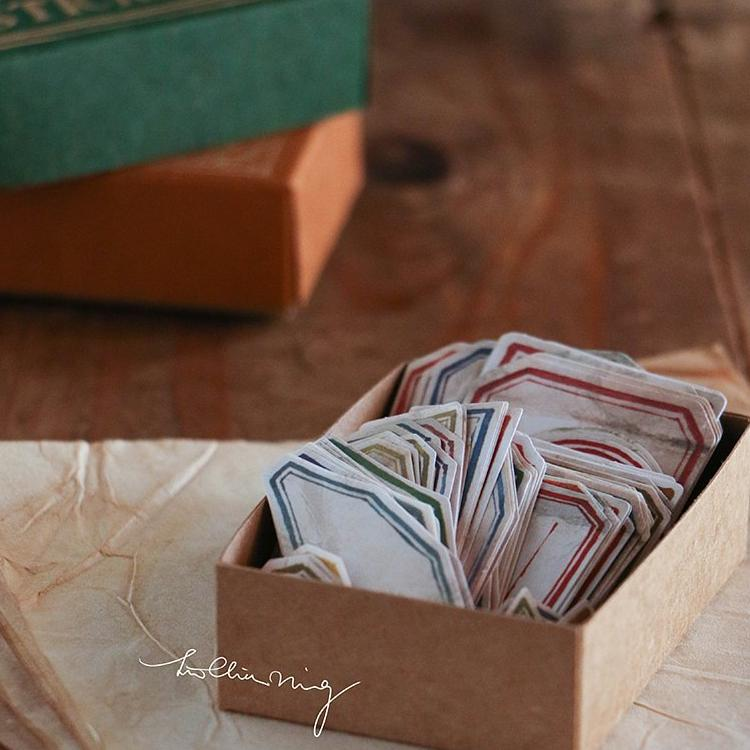 LCN Vintage Label Sticker Box