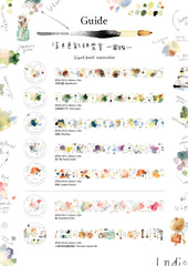 Liang Feng Watercolour Washi Tapes Collection Vol. 2