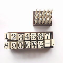 Connecting Big Number Stamps Set