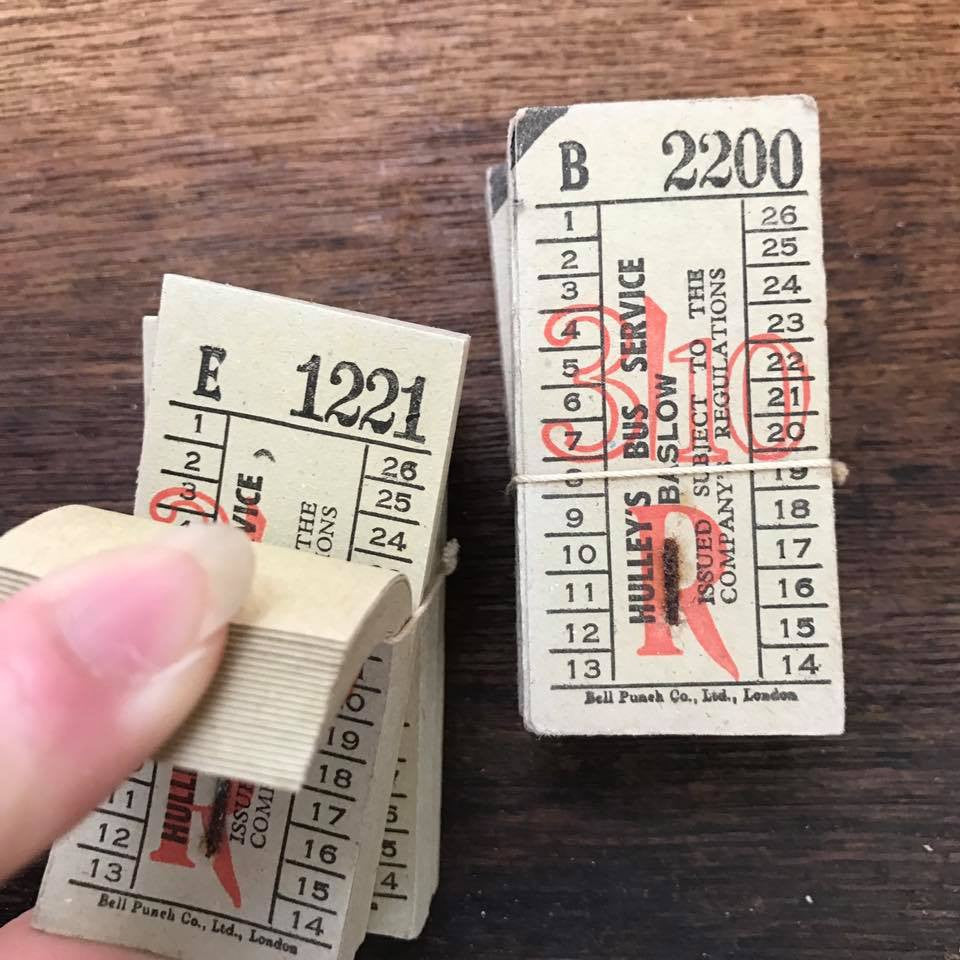 Hulley's Bus Service Baslow Vintage Ticket Pack (50pcs)