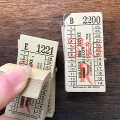 Hulley's Bus Service Baslow Vintage Tickets Pack - 50 pieces
