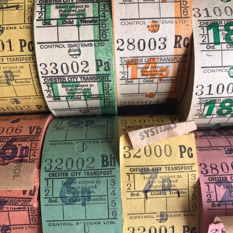 Vintage Bus Tickets Full Roll (1000pcs)