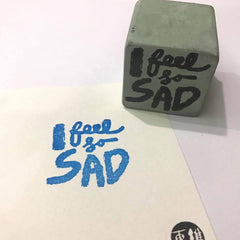 Cement Rubber Stamp - Words Series