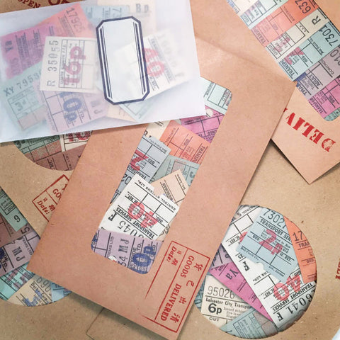 Vintage Bus Tickets (50pcs)