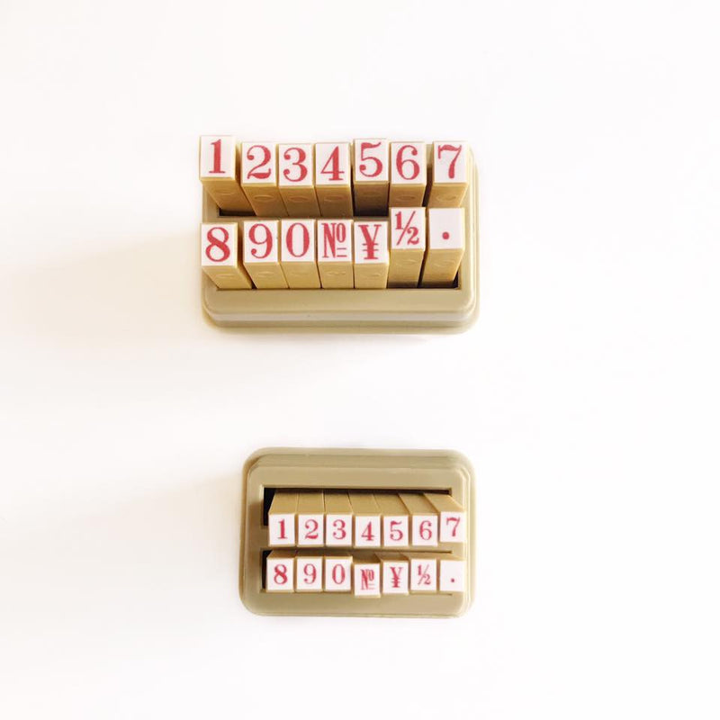 Shachihata Number Rubber Stamp Set