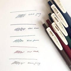 Sarasa Push Clip Gel Pen (0.5mm) - Vintage Series