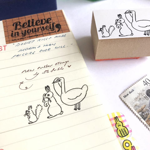 36 Sublo x Yamabatosha Animals Rubber Stamp