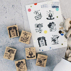Bonnie Illustration - Goose Postman Daily Rubber Stamp
