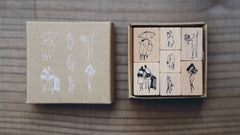 modaizhi One Day Rubber Stamp Set