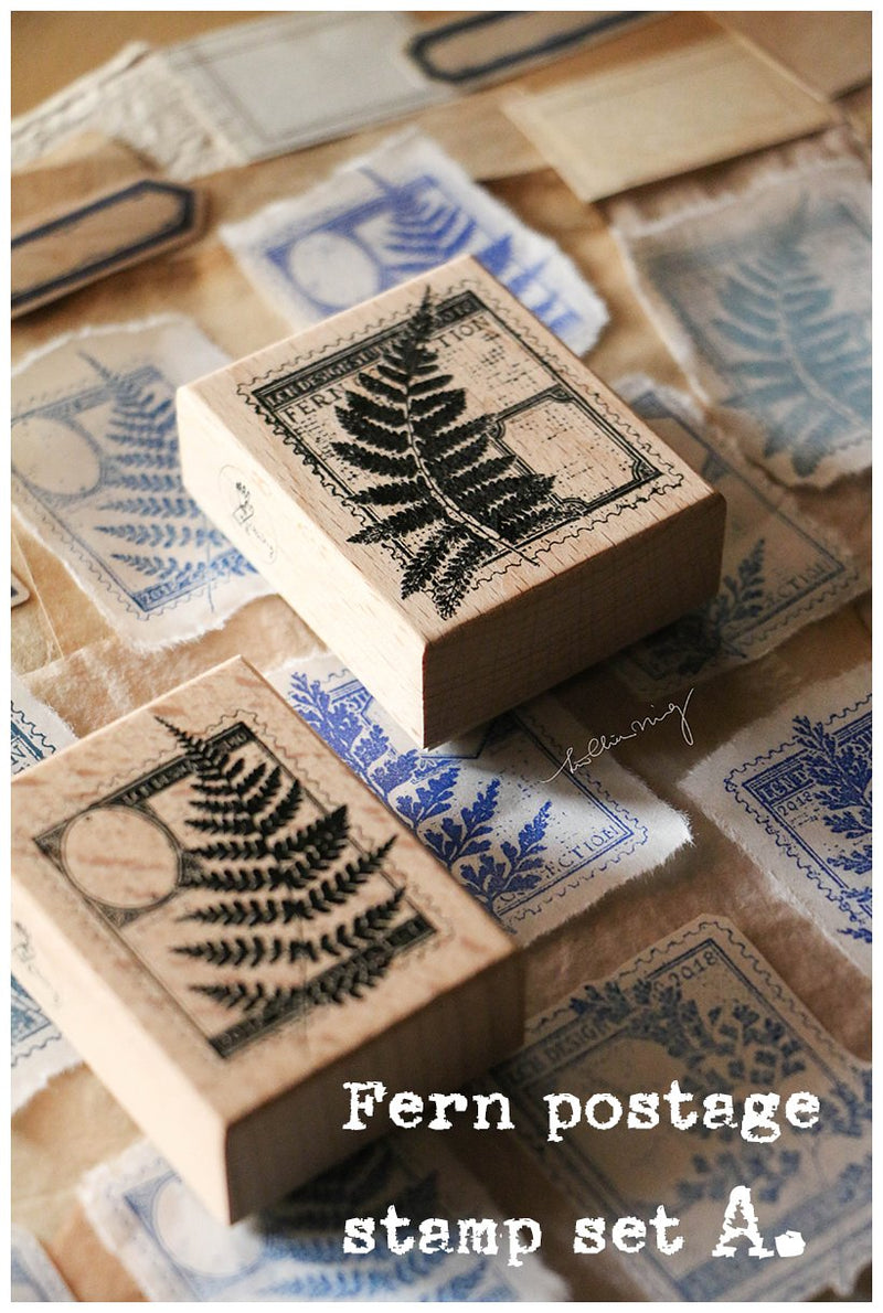 LCN Rubber Stamp Set - Fern Postage Stamp