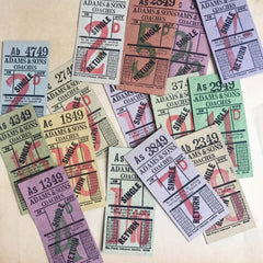 Adams & Sons Coaches Single/Return Vintage Ticket Set