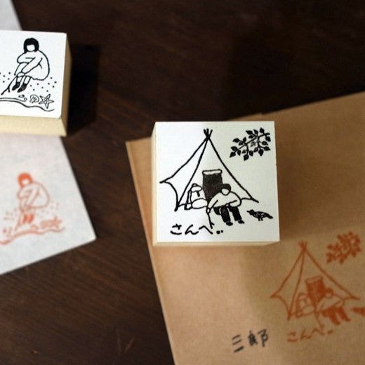 36 Sublo x Rakui Hana [TO] & [FROM] Rubber Stamps