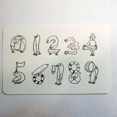 36 Sublo x Ishigaki Penguin Number Stamps Set