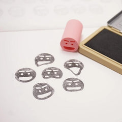 Face Emoji Flexible Rubber Stamp