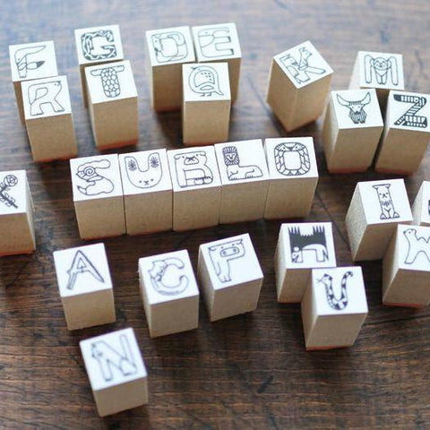 36 Sublo Alphabet Rubber Stamps