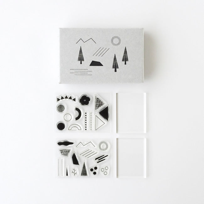 Mizushima JIZAI Clear Stamp Set - Shapes