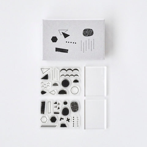 Mizushima JIZAI Clear Stamp Set - Shapes 02