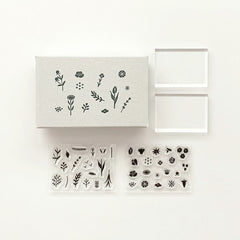 Mizushima JIZAI Clear Stamp Set - Wildflower