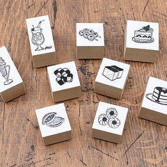 36 Sublo Pastry Shop Rubber Stamps