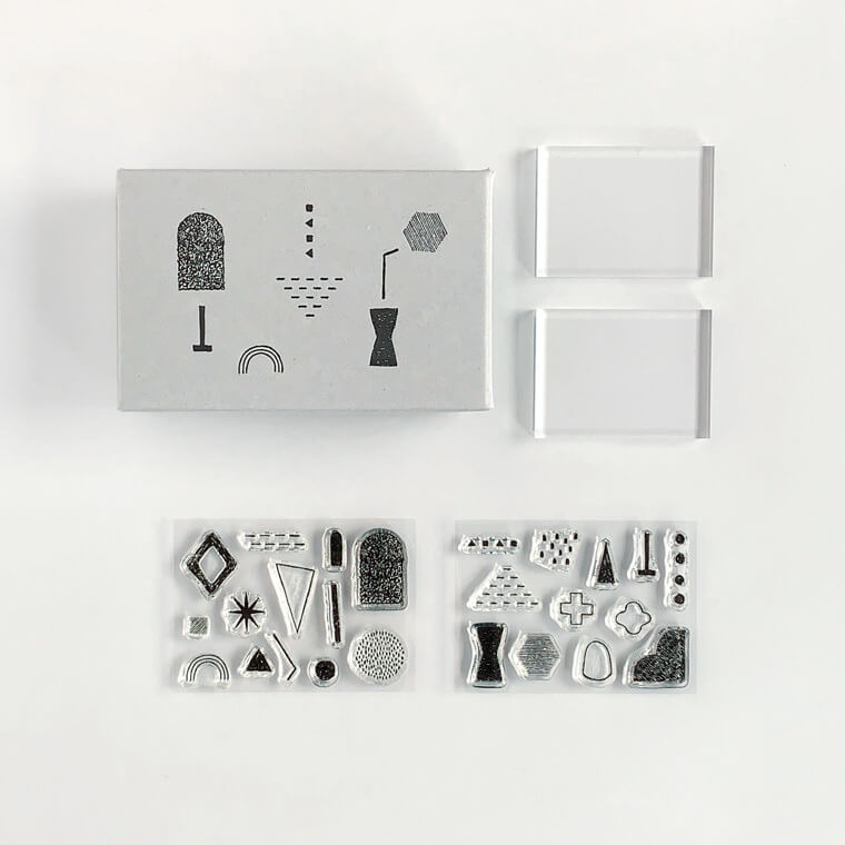 Mizushima JIZAI Clear Stamp Set - Shapes 03