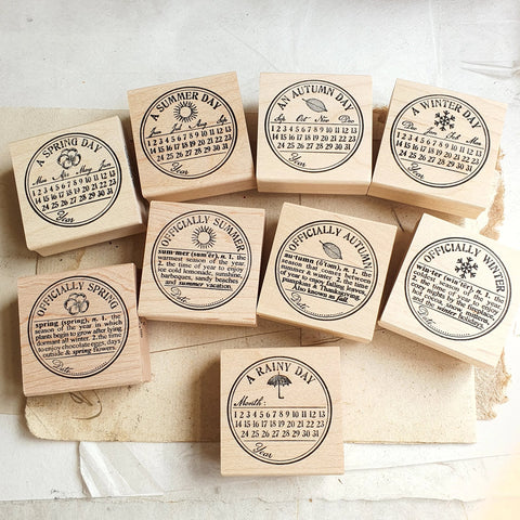 Catslifepress Rubber Stamp - Seasonal Seals