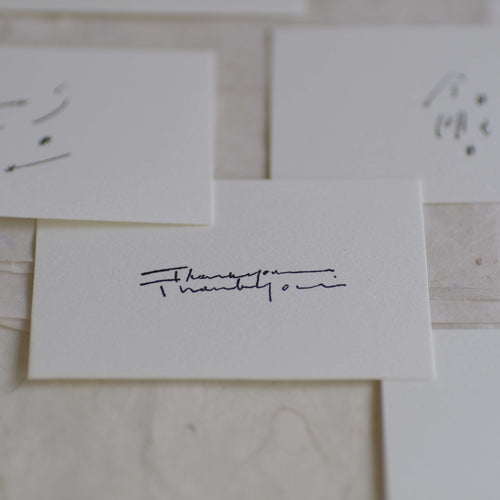 hase rubber stamp - Thank you