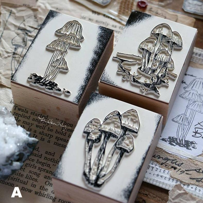 LCN Fungi Rubber Stamps Set