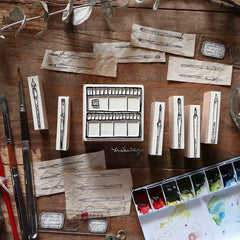 LCN Palette & Painting Tools Rubber Stamps Set