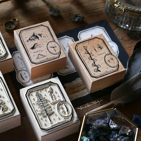 LCN Specimen Labels Rubber Stamps Set