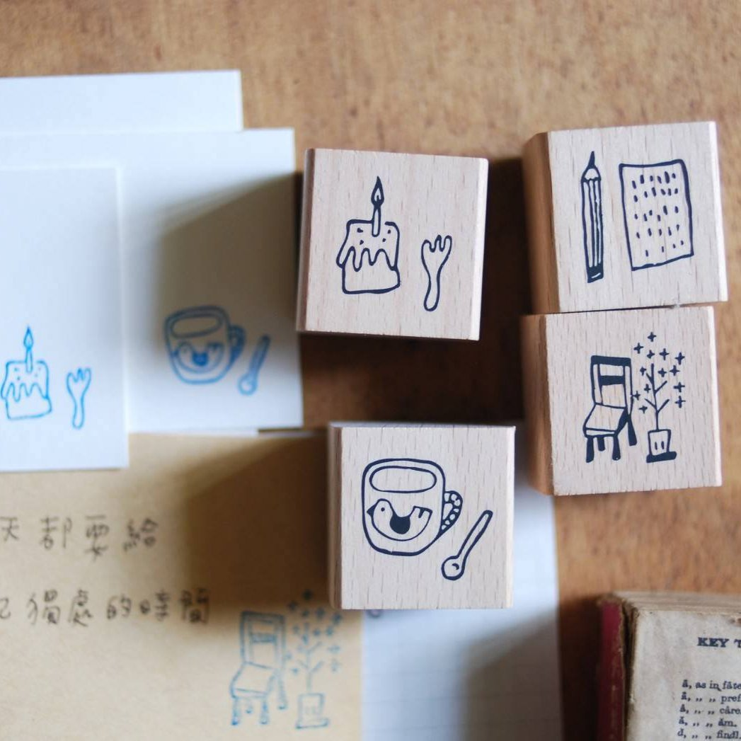 [Discon.] evakaku Living Tool Stamps Set