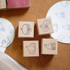 evakaku Bird Rubber Stamp Set