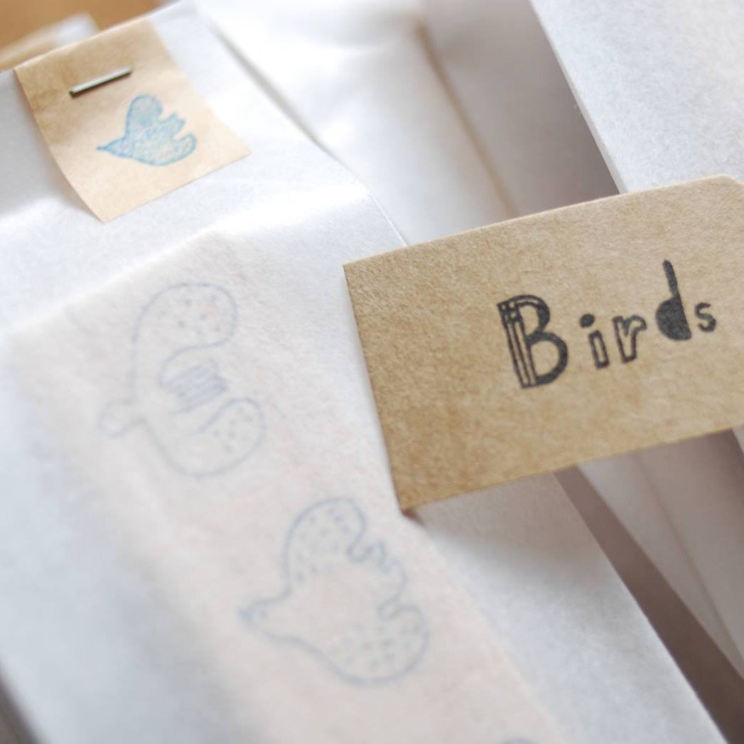 evakaku Rubber Stamp Set - Bird
